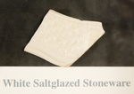White Saltglazed Stoneware
