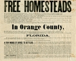 1,000 families can find free homesteads in Orange County, Florida, 1876. Bottom detail