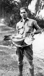Large Mouth Bass Caught in Lake Wales Lake, 1920s by Owen Brice