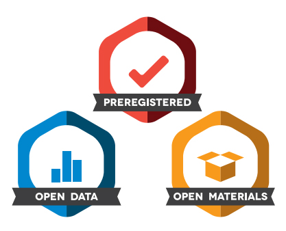 Preregistered, Open Data, and Open Materials badges stacked