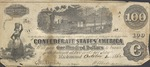 One hundred dollar bill of the Confederate States of America, 1862.