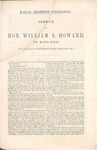 Speech of Hon. William A. Howard of Michigan.