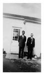 Andrew Duda, Sr. with Rev. Valencik, c. 1950