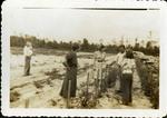 Andrew Jakubcin, Jr. Shows Crop to Visitors, c. Late 1940s