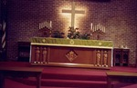 Altar of Brick Church. Mid-1980s