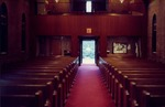 A Westward View of the Nave of the Brick Church. Mid-1980s