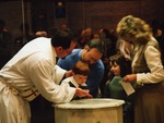 Baptism in Narthex of 1993 Sanctuary