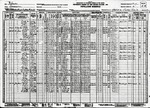 1930 Census Page Listing Residents of Slavia in Seminole County, Florida