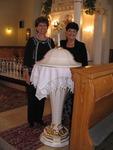 Baptismal Font in Ancestral Church, Slovakia. June, 2009