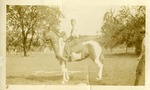 Andrew Duda, Jr., Riding a Horse. c. 1925-26