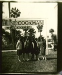 Art students stand under Bethune-Cookman welcome sign