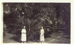Alice Ellen and Clara Louise Guild in yard of Winter Park home.