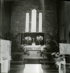 Altar of the 1939 brick church