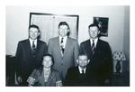 Andrew Duda, Sr. with his sons and daughter, c. 1940s