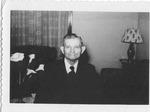 Andrew Duda, Sr. with calla lilies, c. 1950s