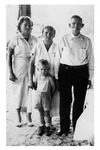 Andrew Duda, Sr. with daughter, granddaughter, and great-grandson, c. 1950