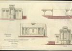 Architect's designs and blueprints for 1957 Chancel