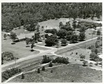 Aerial photo of St. Luke's Lutheran Church and School, c.1960