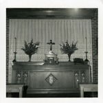 Altar of the 1957 church, communion setting.