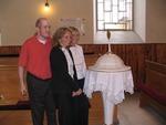 Baptismal Font in Duda Family's Ancestral Church, Slovakia. June, 2009