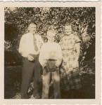 Andy Duda, Jr., with wife, Elizabeth and son, Andy. L., c.1951, Original
