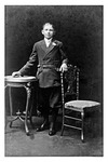 Andrew Duda, Jr. on his confirmation day in Cleveland, c.1920, Black and White