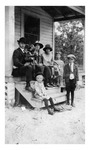 Andrew Sobek family at their home in Slavia, c. 1920s, Black and White