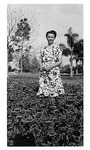 Anula Pelikan Daniel, wife of Lutheran Haven administrator, c. 1950, Black and White