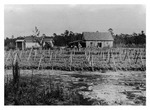 Andrew Duda family's first home and farm in Slavia, c.1927, Black and White