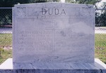 Andrew Duda, Sr. (b. 1873-d. 1958) and Katarina Zatko Duda (b. 1874-d. 1934). Images of headstone in St. Luke's Cemetery and Carey Hand funeral records