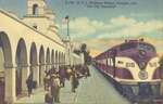 "A.C.L. Railway Station, Orlando, Fla. ""The City Beautiful."" by Orange News Co."