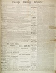 Orange County Reporter, December 25, 1884 by Orange County Reporter