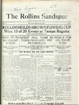 Sandspur, Vol. 22 No. 15, February 12, 1921. by Rollins College