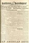 Sandspur, Vol. 50 (1944) No. 21, April 11, 1945