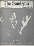 Sandspur, Vol. 80 No. 10, February 22, 1974 by Rollins College