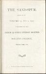 Sandspur, Vol. 13, No. 01, 1907 by Rollins College
