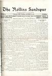 Sandspur, Vol. 20, No. 06, October 27, 1917 by Rollins College