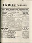 Sandspur, Vol. 22, No. 05, November 13, 1920 by Rollins College