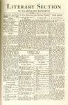 Sandspur, Vol. 28, No. 05, October 22, 1926. Literary Section.