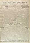 Sandspur, Vol. 32, No. 22, April 11, 1930 by Rollins College