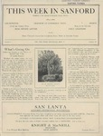 This Week in Sanford, Vol. 01, No. 18, May 17, 1926 by Arthur R. Curnick and J. Henry Wulbern
