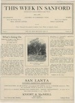 This Week in Sanford, Vol. 01, No. 19, May 24, 1926 by Arthur R. Curnick and J. Henry Wulbern