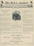 This Week in Sanford, Vol. 01, No. 20, May 31, 1926 by Arthur R. Curnick and J. Henry Wulbern