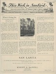 This Week in Sanford, Vol. 01, No. 21, June 7, 1926 by Arthur R. Curnick and J. Henry Wulbern