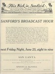 This Week in Sanford, Vol. 01, No. 23, June 21, 1926 by Arthur R. Curnick and J. Henry Wulbern