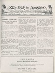 This Week in Sanford, Vol. 02, No. 03, August 2, 1926 by Arthur R. Curnick and J. Henry Wulbern