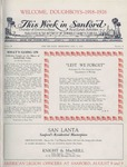 This Week in Sanford, Vol. 02, No. 04, August 9, 1926 by Arthur R. Curnick and J. Henry Wulbern
