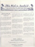 This Week in Sanford, Vol. 02, No. 07, August 30, 1926 by Arthur R. Curnick and J. Henry Wulbern