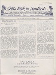 This Week in Sanford, Vol. 02, No. 09, September 13, 1926 by Arthur R. Curnick and J. Henry Wulbern