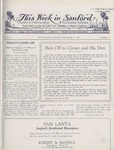 This Week in Sanford, Vol. 02, No. 10, September 20, 1926